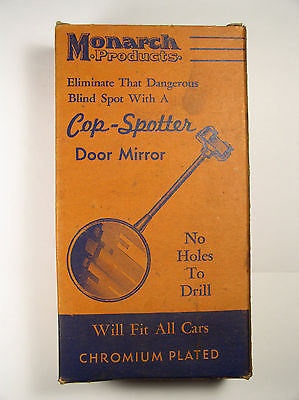 RETRO-VINTAGE-MONARCH-COP-SPOTTER-DOOR-MIRROR-RAT-ROD