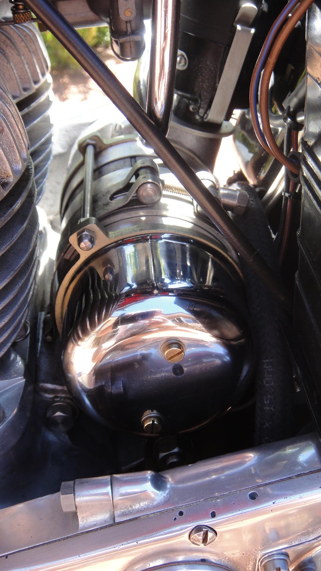 Ariel Square Four Alternators Iron Horse Spares Re Alternator Conversion 300watt On Mk1 Sq4 Drive Side
